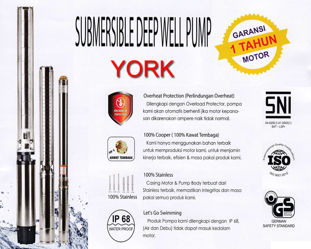 Jual Submersible York Magetan